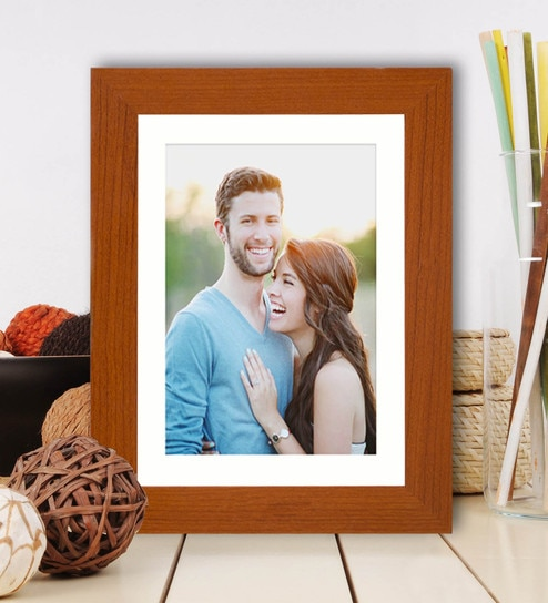 Buy Brown Mdf 6 X 8 Photo Size Table Photo Frame By Art Street