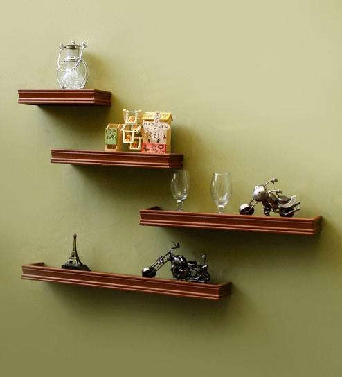 timeless design 2695e c18ac Brown Mdf Beautiful Rectangular Wall Shelf By Onlineshoppee