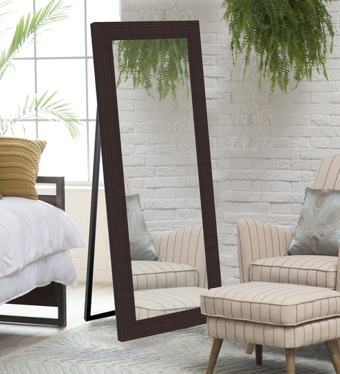 Decorative Full Length Mirror.Brown Mdf Decorative Full Length Wall Mirror By Elegant Arts Frames