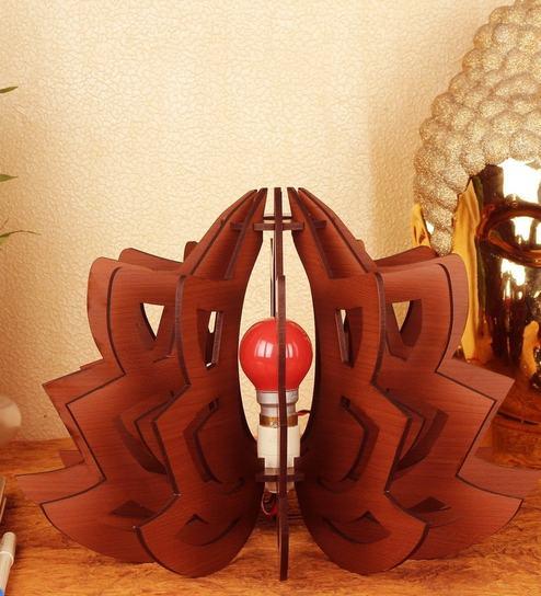 Buy brown mdf diy lotus 1 table lamp by sehaz artworks online brown mdf table lamp by sehaz artworks aloadofball Gallery