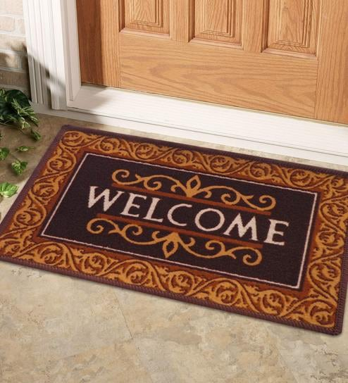 Brown Nylon 23 x 15 inch Door mat by Status : mat door - pezcame.com