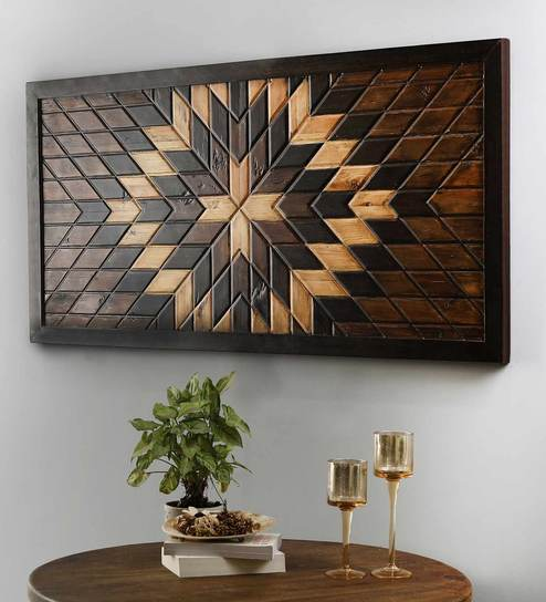 Brown Solid Wood Wall Panel By The