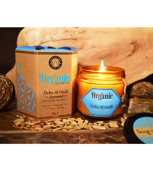 Brown Wax Scented Candle by Song of India