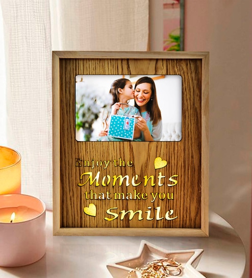 0ca88c2a231a Buy Brown Wood   Mdf Photo Frame With Led By Archies Online - Single ...