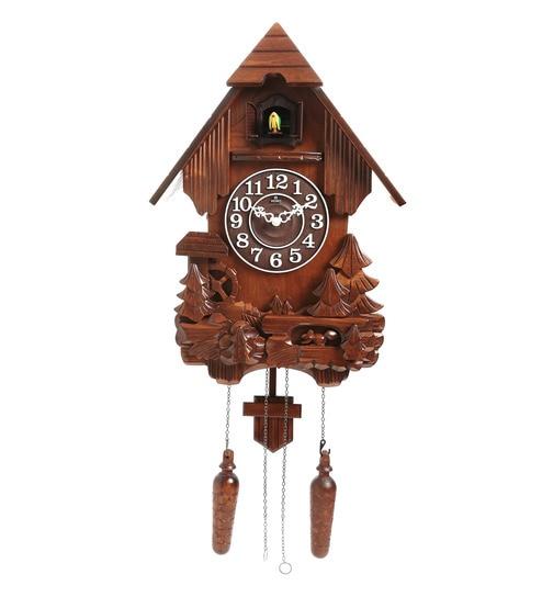 Buy Brown Wood Cuckoo Clock By Horo Online Cuckoo Clocks