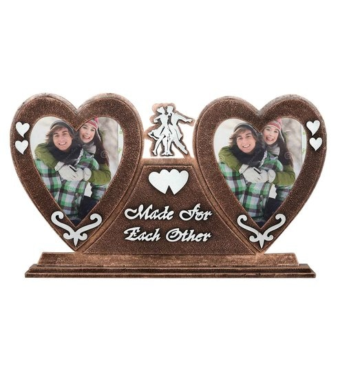 Buy Brown Wood 19 x 2 x 12 Inch Couple Love Article Photo Frame by ...