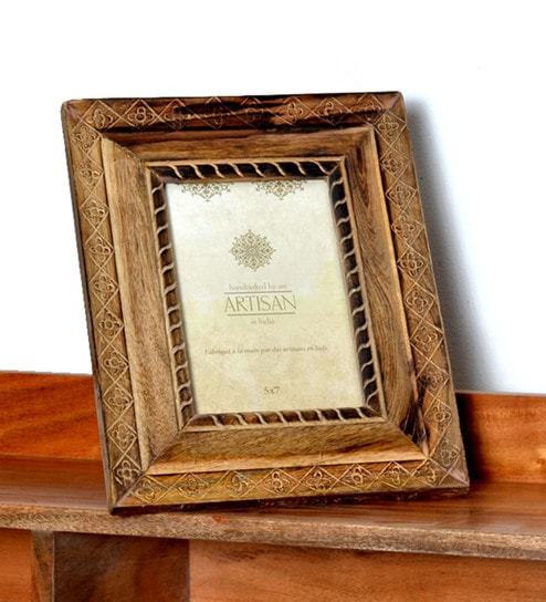 Brown Wood 6 X 1 8 Inch Allure Photo Frame By Casa Decor