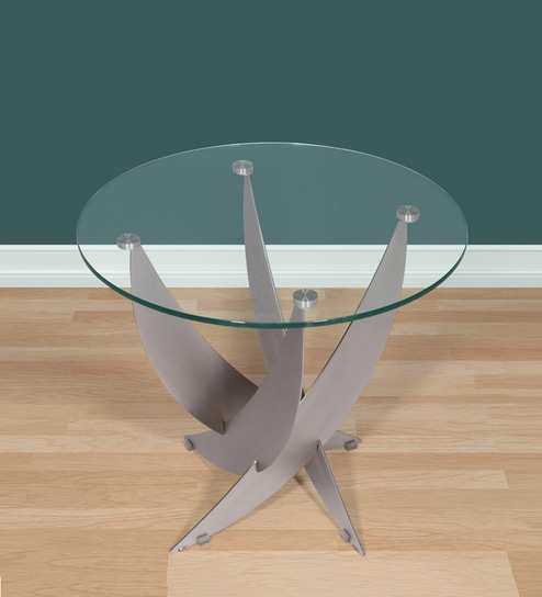 Bruny Tall Metallic End Table By Evok
