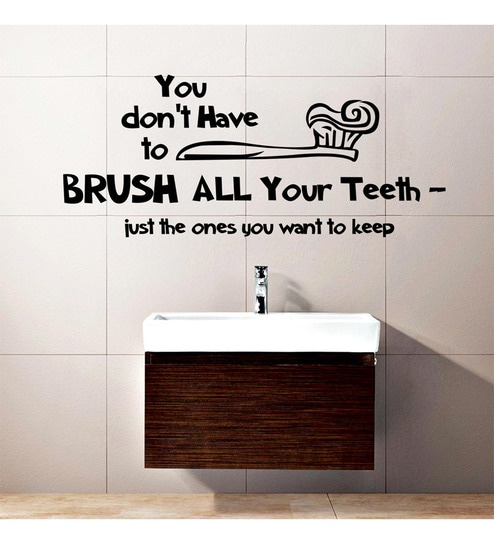 Brush Your Teeth Wall Decal By Creative Width Online Slogans