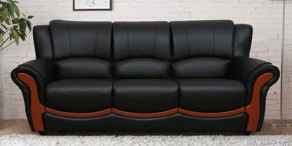 Bravo Three Seater Sofa In Black Colour By Sofab