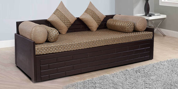 Awe Inspiring Brick Sofa Cum Bed In Brown Colour By Arra Machost Co Dining Chair Design Ideas Machostcouk
