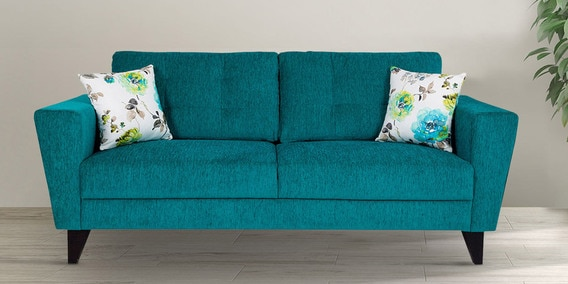 Bristol Three Seater Sofa In Turquoise Colour By Urban Living