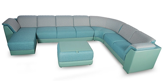 Broadway Sofa Set In Teal Green Colour By Rej Interio