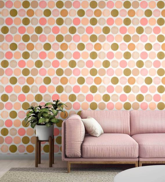 buy brown orange spotted wallpaper nilaya wall coverings by asian paints online pattern textures wallpapers furnishings home decor pepperfry product brown orange spotted wallpaper nilaya wall coverings