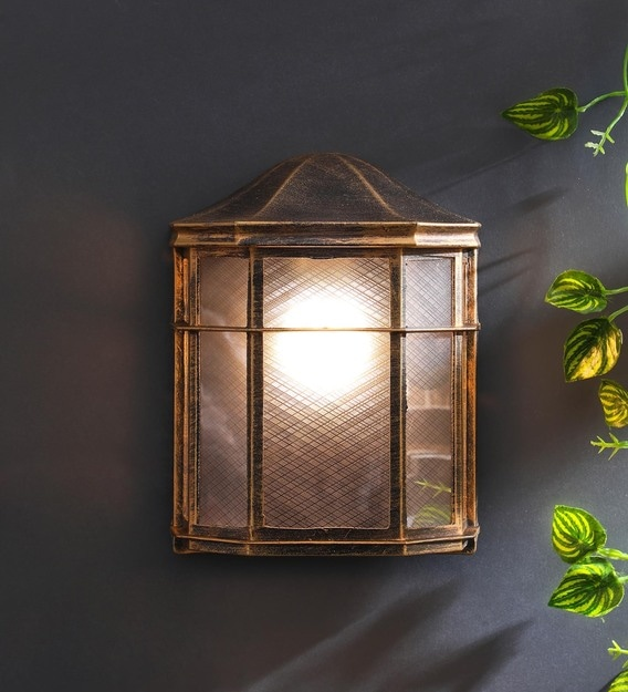 Buy Exterior Brown Metal Outdoor Wall Light By Superscape Outdoor Lighting Online Outdoor Wall Lights Outdoor Lights Lamps Lighting Pepperfry Product