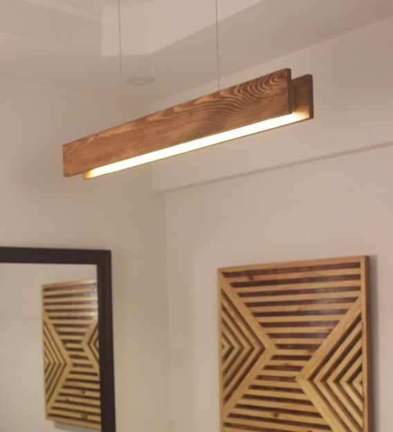 Buy Synergy 48 Brown Wooden Led Single Hanging Lamp By Symplify Interio Online Contemporary Single Hanging Lights Ceiling Lights Lamps And Lighting Pepperfry Product