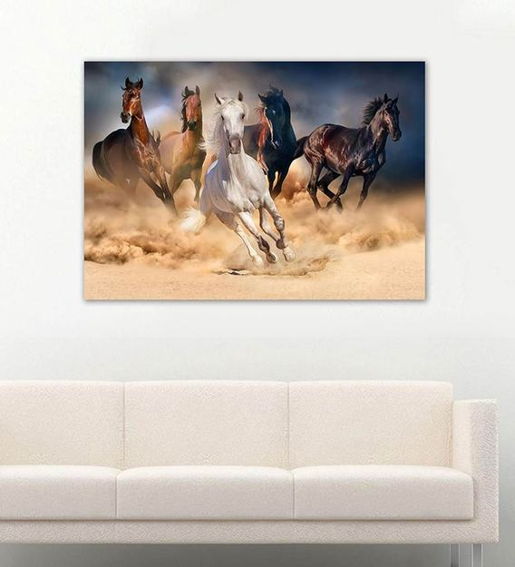 Horses Watercolor Wall Art Horses Gallop Watercolor Art Print Original Mixed Media Watercolor Art Print