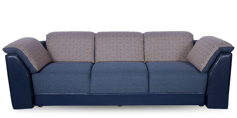 Buy Broadway Three Seater Sofa In Blue Finish By Godrej Interio