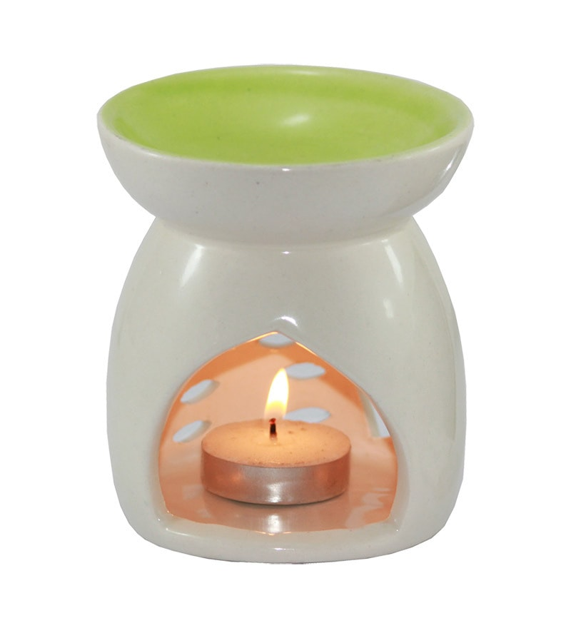 Green Aroma Oil Burner by Brahmz