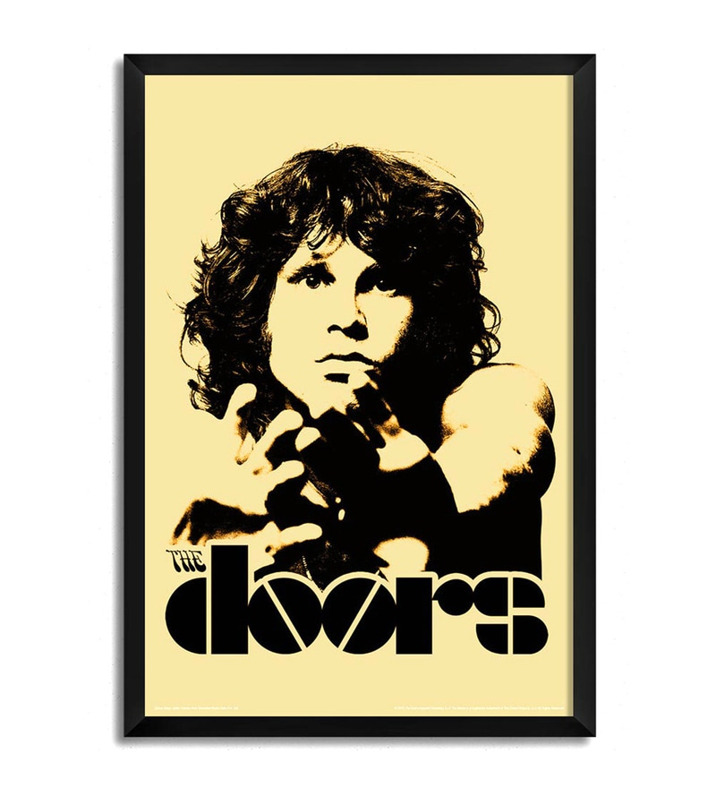 Buy Fibre with Wood Texture 13 x 19 Inch Jim Morrison The Doors ...