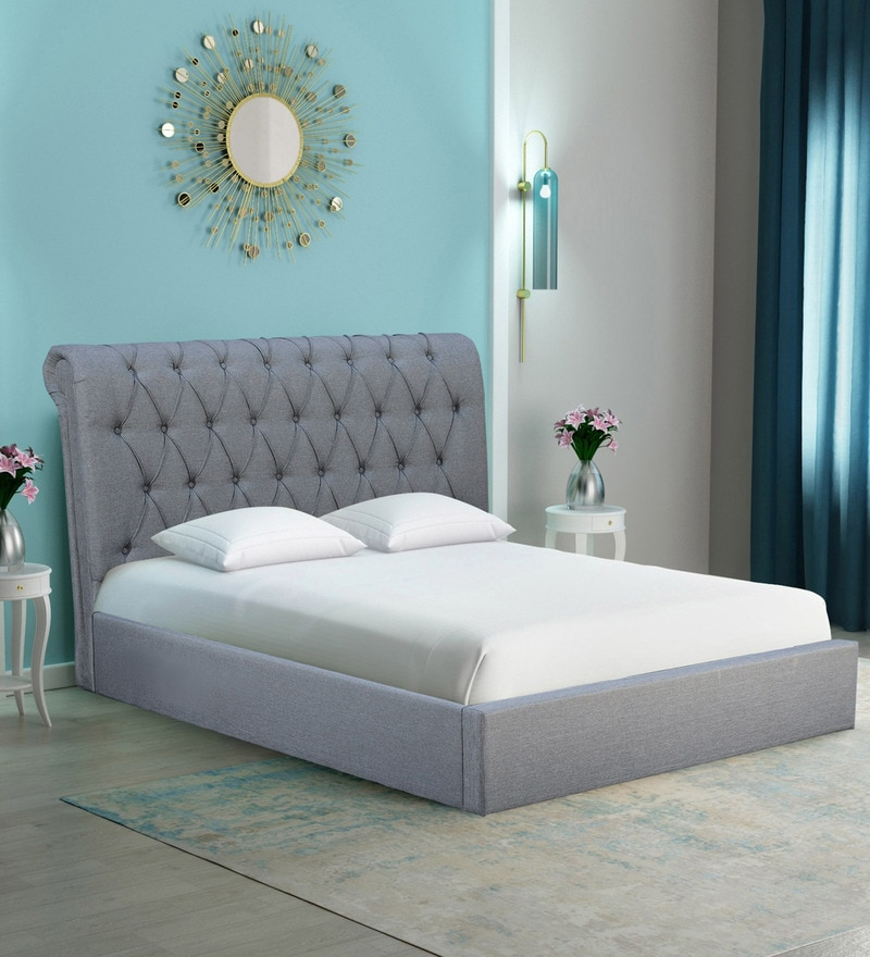 3b6c45c726a6a1 Buy Brayan Upholstered Queen Size Bed with Hydraulic Storage in ...