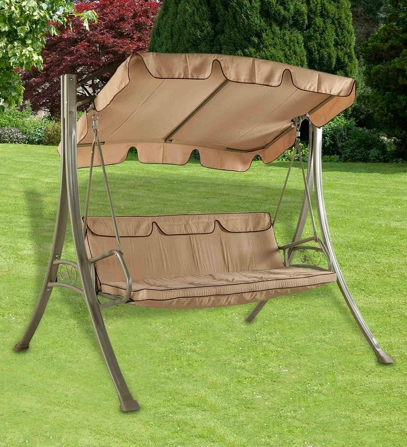 Breeze Swing with Canopy in Cream Upholstery by Royal Oak