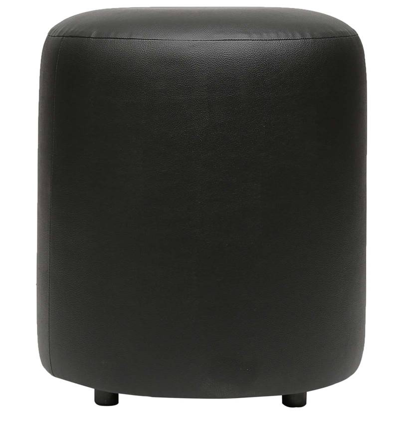 Britto Round Pouffe in Black Colour by Columbus First Furniture