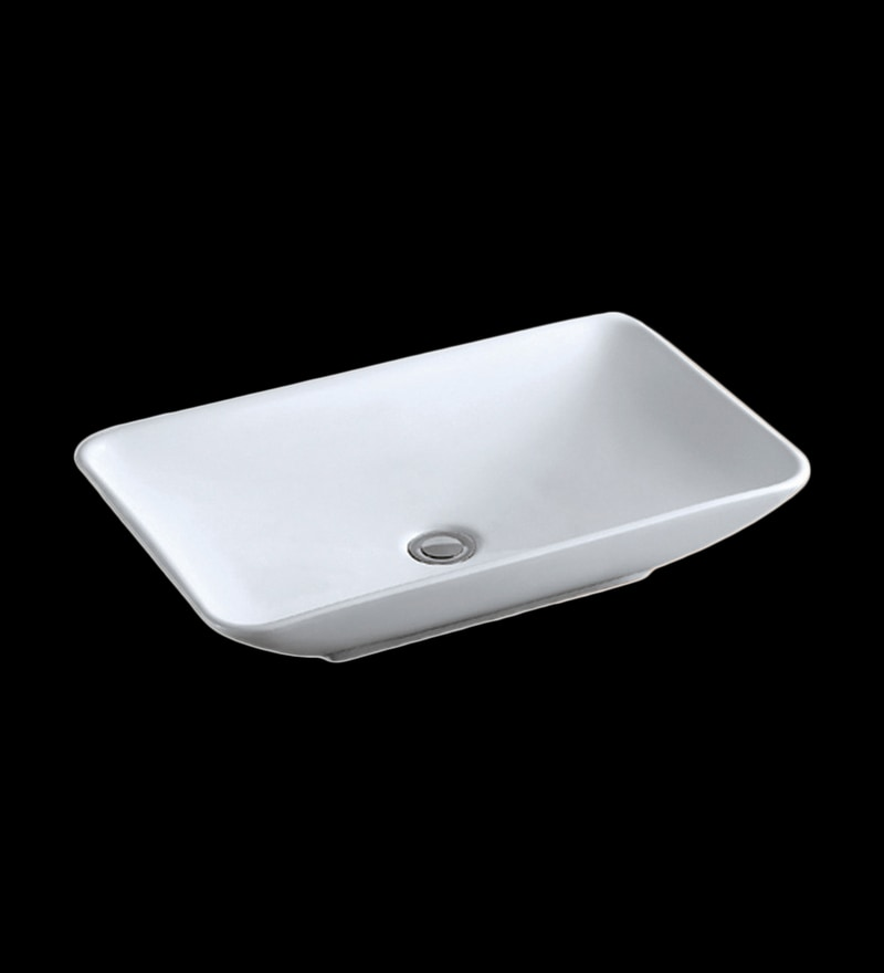 Brizzio White Ceramic Art Basin (Model: 4005)