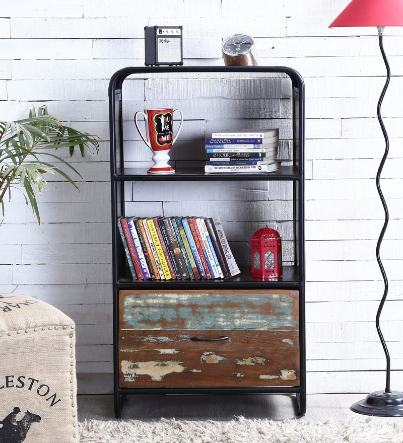Trenton Book Shelf in Distress Finish by Bohemiana