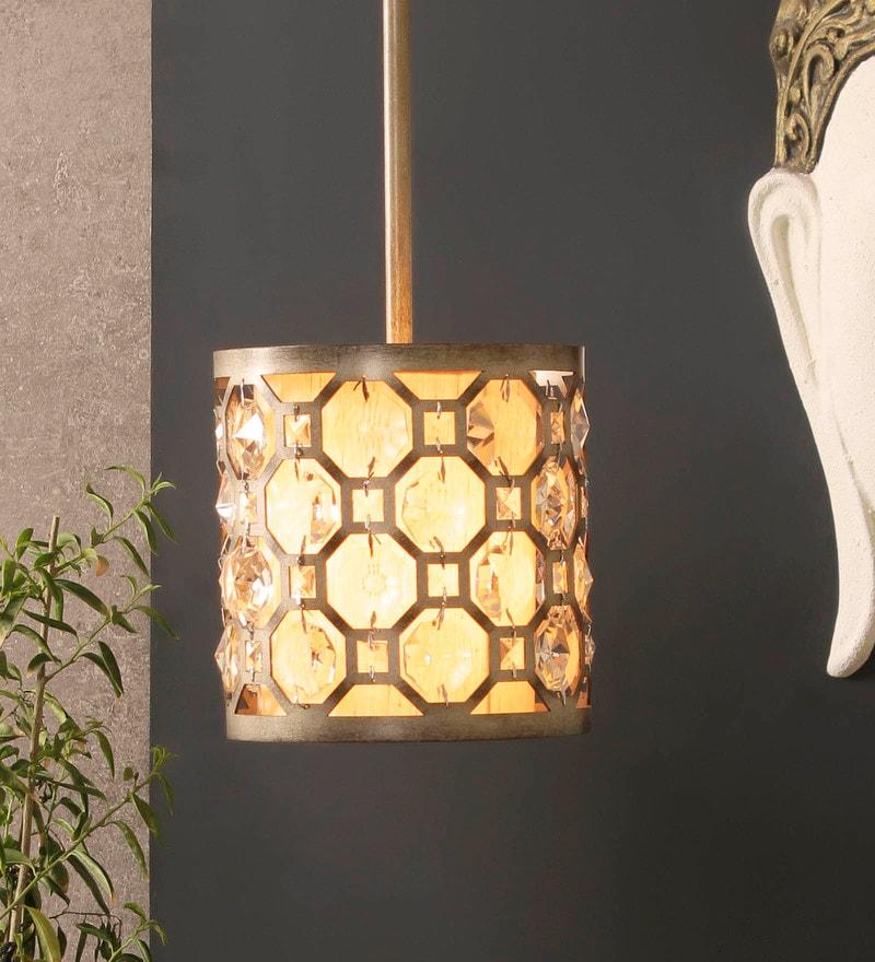 Bronze Aluminium and Glass Pendant by Jainsons Emporio