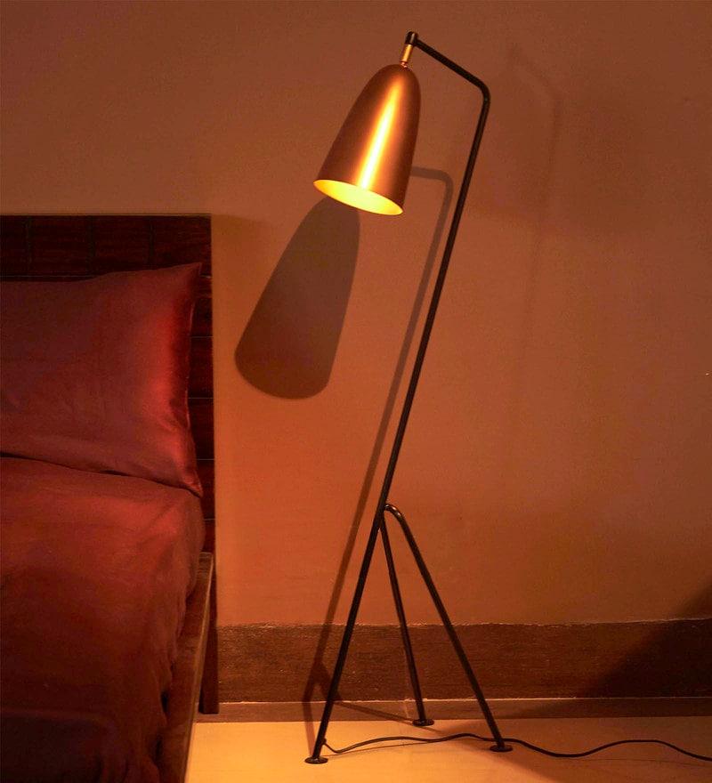 Brown Copper Floor Lamp by Tezerac