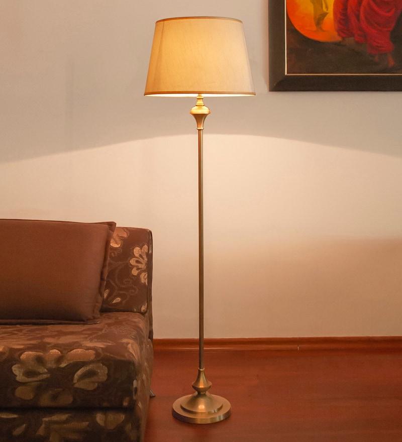 Brown Mild Steel Antique Floor Lamp