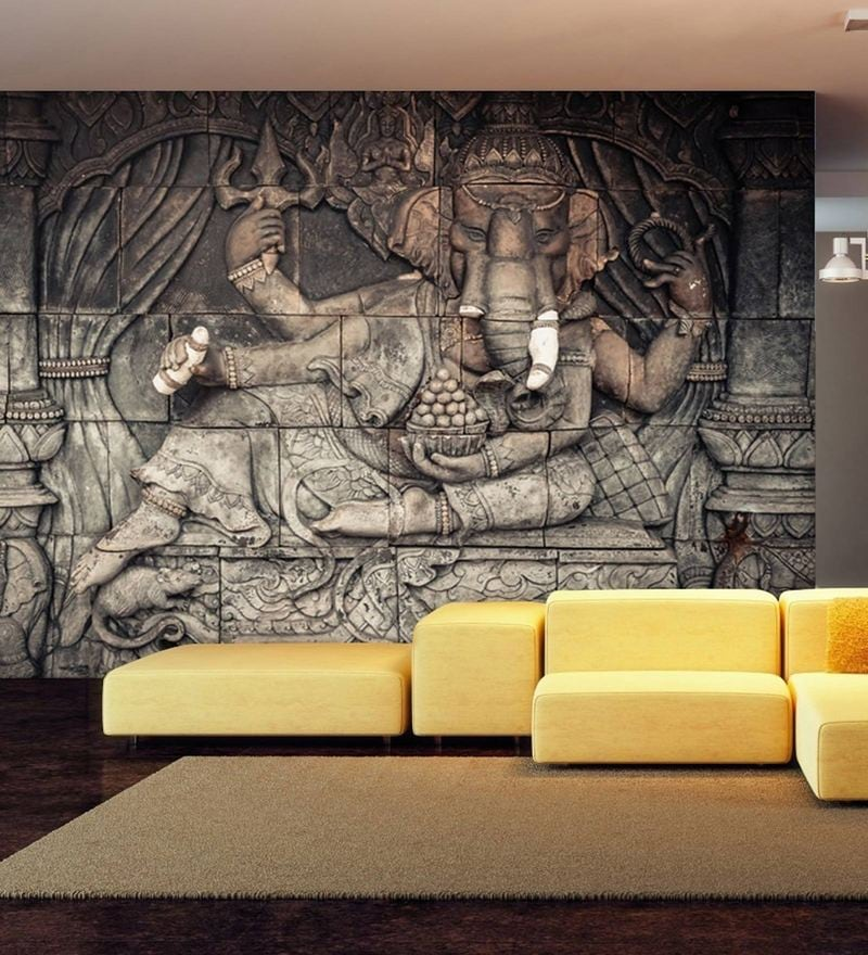 brown non wooven paper 3d lord ganesha mural wallpaper by 999store brown non wooven paper 3d lord ga 2zai6b