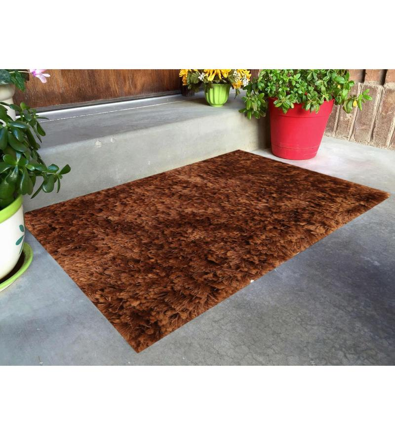 Brown Polyester 16 x 24 Inch Door Mat by Skipper