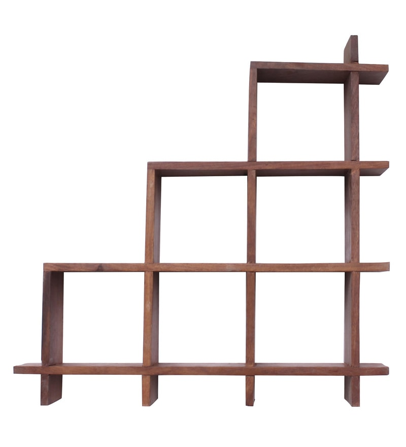 Brown Sheesham Wood Wall Hanging Racks By Home Sparkle