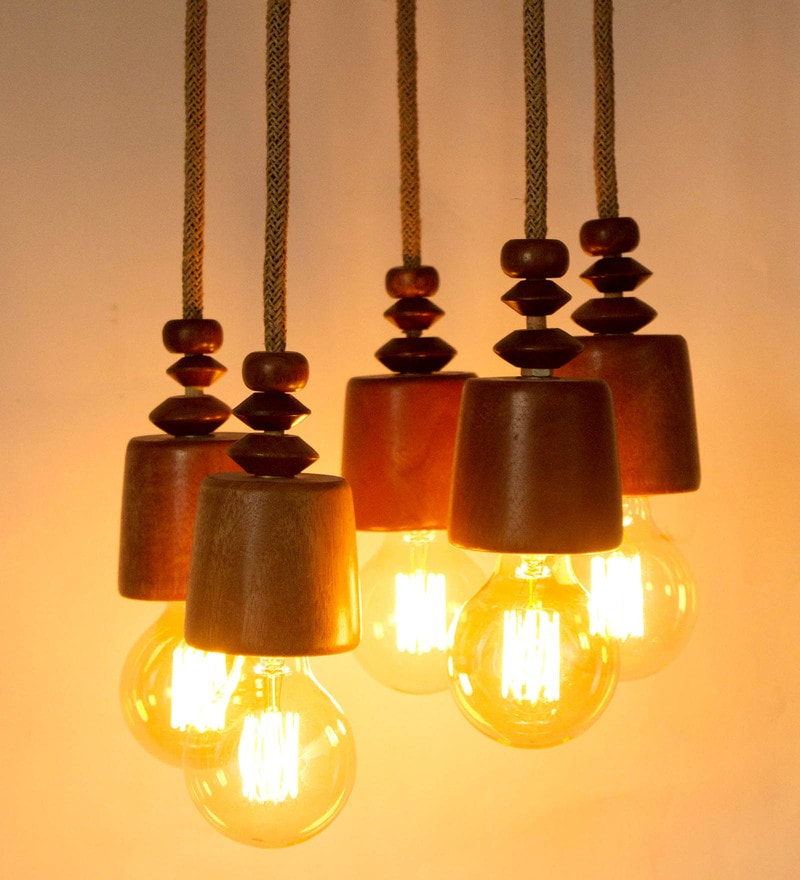 Brown Wood Pendant by Tezerac