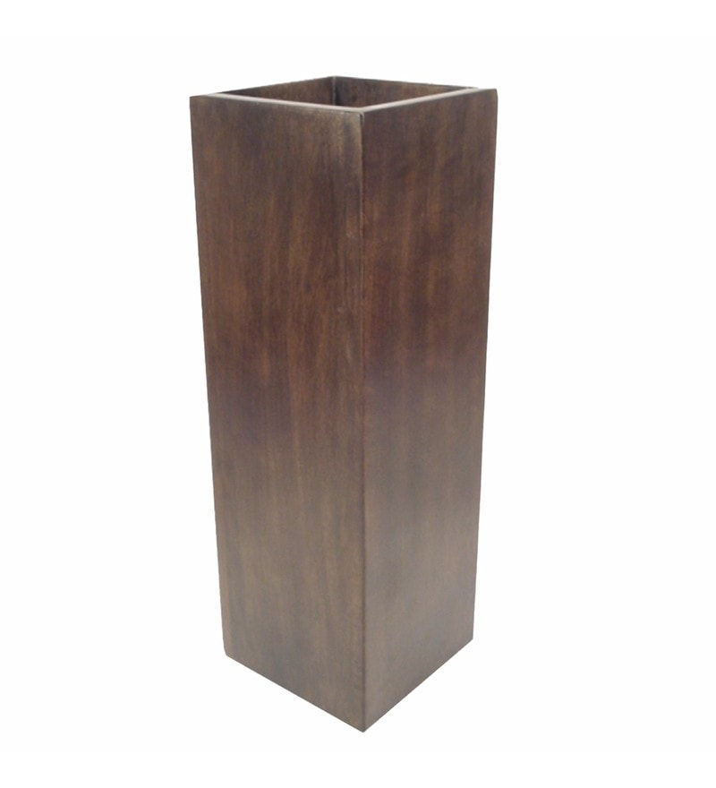 Brown Wooden Beautiful & Elegant Vase by Golmaalshop