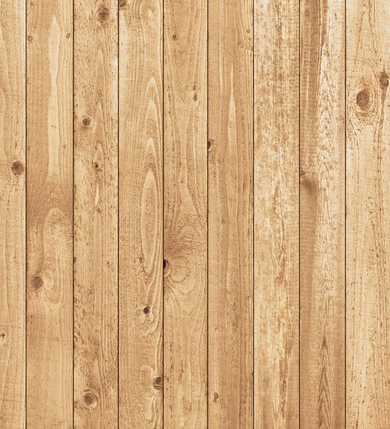 Print A Wallpaper Brown Wooden Planks Wallpaper