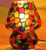 Mosaic Multicolour Glass Table Lamp by Brahmz