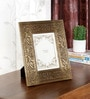 Brown Solid Wood 9 x 1 x 11 Inch Designer Photo Frame by Ethnic Clock Makers