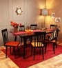 Bremerton Six Seater Dining Set in Espresso Walnut Finish by Woodsworth