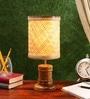 Brown Wood Aloha Table Lamp by Kraftinn