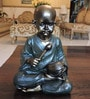 Bronze & Dark Green Polyresin Cute Baby Monk Figurine by Browse House