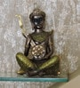 Bronze & Green Polyresin Musical Buddha by Browse House