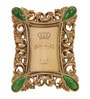 Browse House Silver & Green Polyresin 7 x 8.5 Inch PF02 Stone & Resin Photo Frame