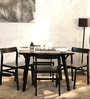 Brunilda Four Seater Dining Set in Espresso Walnut Finish by Woodsworth