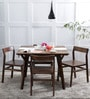 Brunilda Four Seater Dining Set in Provincial Teak Finish by Woodsworth