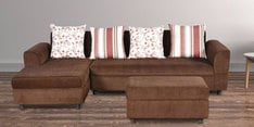 Burlington RHS Three Seater Sofa with Lounger & Pouffe in Coffee Colour