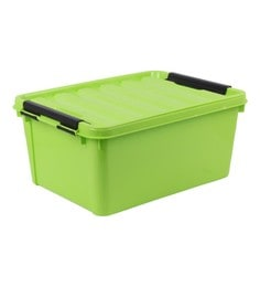 Buckle Up Multipurpose Plastic Green 20 L Storage Box With Lid
