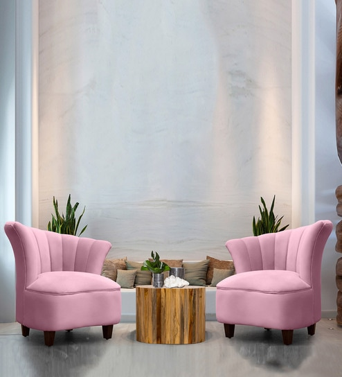 Set Of 2 Living Room Accent Chairs.Butterfly Accent Chair In Pink Colour Set Of 2 By Peachtree